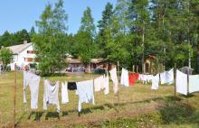 Pyykit kesätuulessa